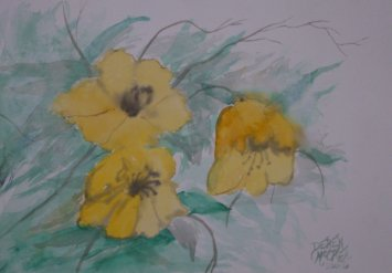 flowers watercolor painting