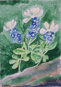 bluebonnets flower painting