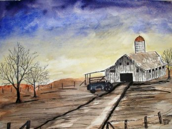 wisconsin barn art drawing
