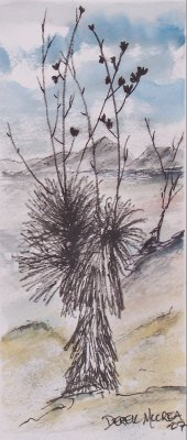 yucca flower southwestern art painting
