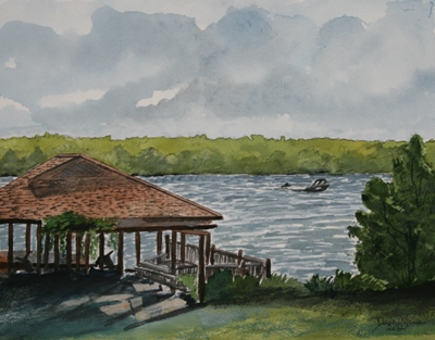 boat house drawing