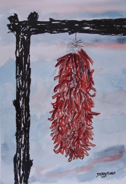 chili pepper southwestern art painting