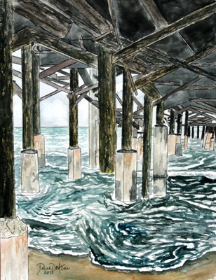 cocoa beach pier painting