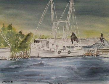 nautical boat seascape painting