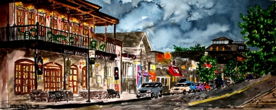Fayetteville Arkansas city drawing
