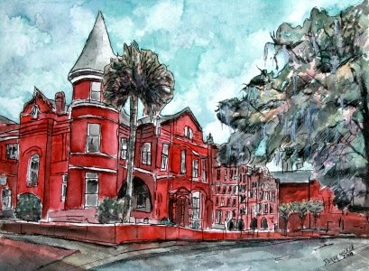 savannah georgia drawing