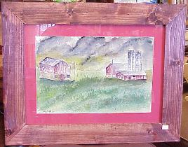 framed folk art