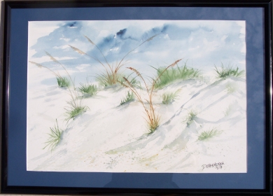 framed seascape painting