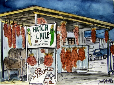 hatch chili pepper southwestern art painting