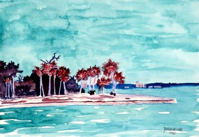 islander art beach painting