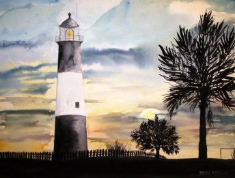 Tybee Island Lighthouse Art This Is A Famous Wedding Location For Marriages In The State Of Georgia And Located Near