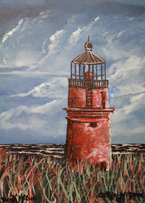 lighthouse oil painting.