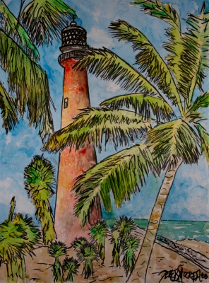 lighthouse paintings