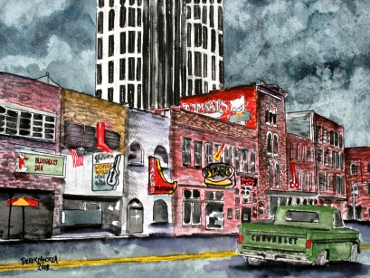 Nashville Tennessee illustration drawing