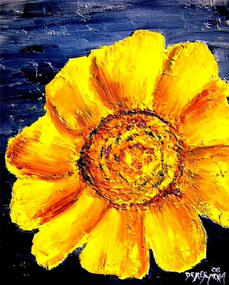 modern oil flower painting art print