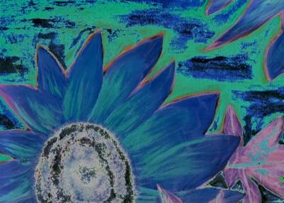 modern art flower painting print