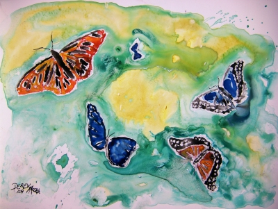 butterflies painting