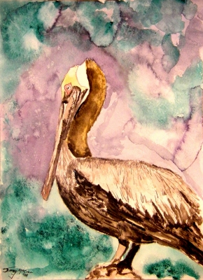 pelican art painting