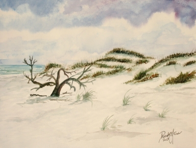 sand dunes painting