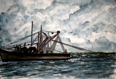 shrimp boat painting 2