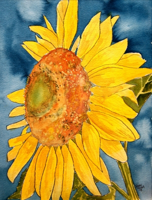 watercolor paintings of flowers. sunflower watercolor painting