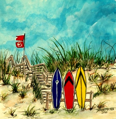 surfboards painting