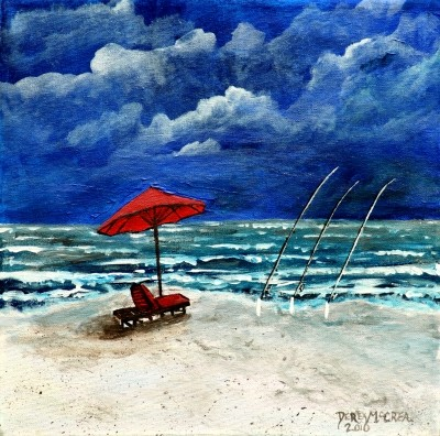 surf fishing painting