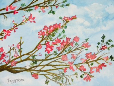 tree flowers painting