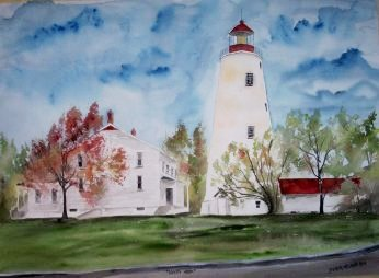 Lighthouse Beach and Seascape Paintings