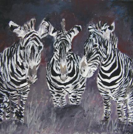 Zebra art print   Ze...